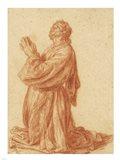 Study of a Kneeling Man Art Print