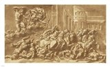 The Sons of Niobe Being Slain by Apollo and Diana Art Print
