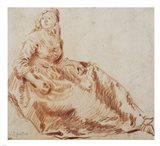 Study of a Seated Woman Art Print
