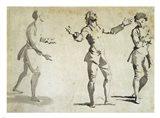 Three Figure Studies Art Print