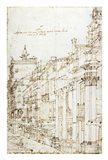 The Campo San Basso: The North Side with the Church Art Print