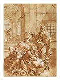 Joseph Interpreting the Dreams of His Fellow Prisoners Art Print