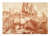Ruins of an Imperial Palace, Rome Art Print
