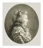 Portrait of a Young Lady in Profile Art Print