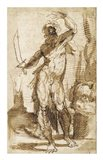 Study for the Figure of Abraham Art Print