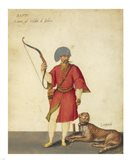 An Azappo Archer with a Cheetah Art Print