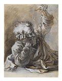 Reclining Old Man Art Print