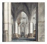 The Choir and North Ambulatory of the Church of Saint Bavo Art Print