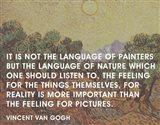 Language of Painters - Van Gogh Quote Art Print
