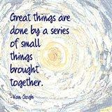 Great Things -Van Gogh Quote 2 Art Print