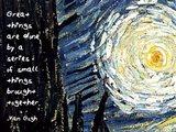 Great Things - Van Gogh Quote 1 Art Print