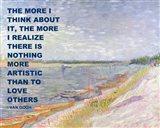 Love Others -Van Gogh Quote Art Print