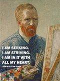 Seeking -Van Gogh Quote Art Print
