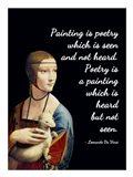 Painting is Poetry - Da Vinci Quote 1 Art Print