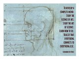 To Develop a Complete Mind -Da Vinci Quote Art Print