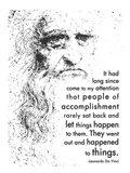 People of Accomplishment -Da Vinci Quote Art Print