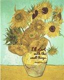 Small Things - Van Gogh Quote 1 Art Print