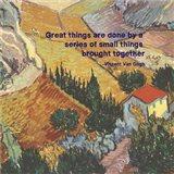 Great Things -Van Gogh Quote 4 Art Print
