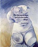 Know God - Van Gogh Quote 2 Art Print