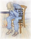 Courage - Van Gogh Quote 2 Art Print