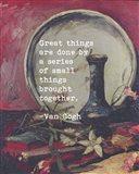 Great Things -Van Gogh Quote 5 Art Print