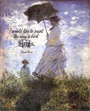 Monet Quote Madame Monet and Her Son Art Print