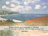 Monet Quote Chemin Dans Les Bles A Pourville Art Print