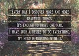 Monet Quote Garden at Giverny Art Print