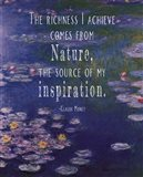 Monet Quote Waterlilies at Giverny Art Print