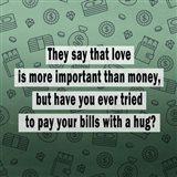 Love vs. Money II Art Print