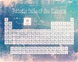 Periodic Table Blue Grunge Background Art Print