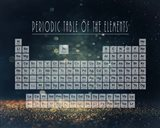 Periodic Table Gold Dust - Blue Art Print
