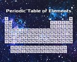Periodic Table Of Elements Space Theme Art Print