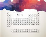 Periodic Table Of The Elements Abstract Low Poly Shape Art Print