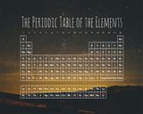 The Periodic Table Of The Elements Night Sky Green Art Print
