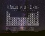 The Periodic Table Of The Elements Night Sky Purple Art Print