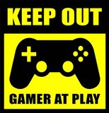 Keep Out Gamers At Play Art Print