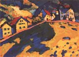 Houses on a Hill, 1909 Art Print