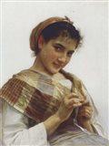 A Breton Girl, 1889 Art Print