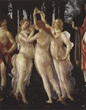 La Primavera (Spring) Detail of Three Graces Art Print