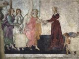Venus and the Graces Offering Gifts to a Young Girl Art Print