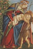 Madonna with Child Embracing the Young St John Art Print