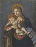 Madonna and Child with the Crown of Thorns and Three Nails Art Print