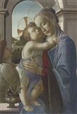 Virgin and Child with an Angel, 1475-85 Art Print