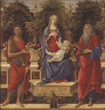 Enthroned Madonna with Child and Saints Art Print