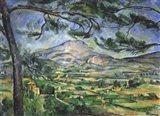 Mont Sainte-Victoire with Large Pine Tree Art Print