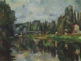 Bridge Over Ther Marne at Creteil Art Print