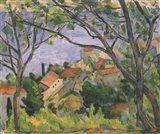 View of L'Estaque Through the Trees Art Print