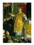 The Vision of St. Ignatius of Loyola Art Print
