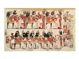 Banquet scene, from Thebes Art Print